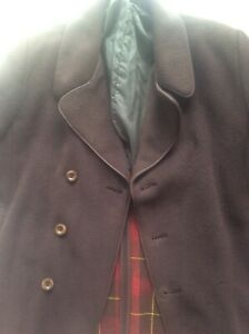 Men S Xl Vintage Austin Reed Brown Gannex Cloth Coat Wool Mohair Mink Hm Queen Ebay
