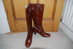 Bianco Boots Leather By New Brown Uk Eu 40 7 Ladies 7wqanZS