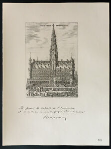 1926-Litografia-citacion-Mr-el-burgomaestre-Max-Bruselas