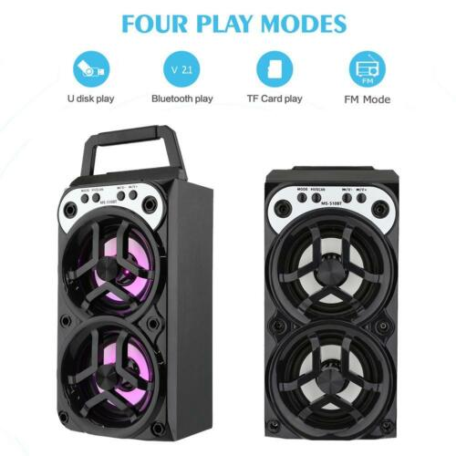 Portable Wireless Bluetooth Mobile Multimedia Speaker  With USB//TF//Aux//FM Radio