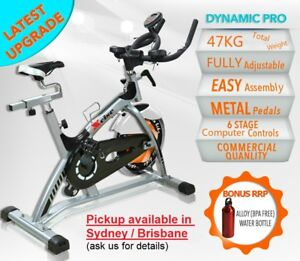 UPGRADED-47KG-HEAVY-DUTY-COMMERCIAL-SPIN-EXERCISE-BIKE-HOME-GYM-FITNESS