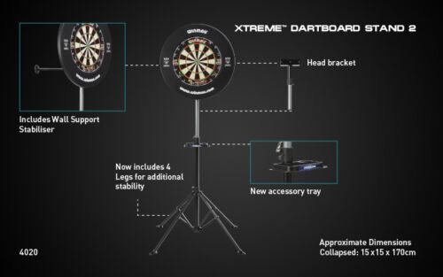 WINMAU Bristle Steel Dart Board Dartboard Ständer Dartboardständer Xtreme Stand2