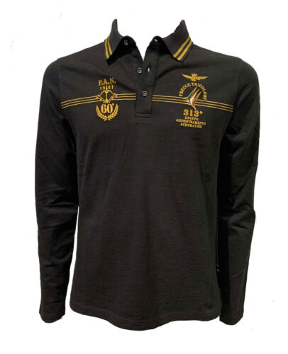 Frecce Tricolori POLO SHIRT AERONAUTICA MILITARE PO1515J schwarz tshirt hemd