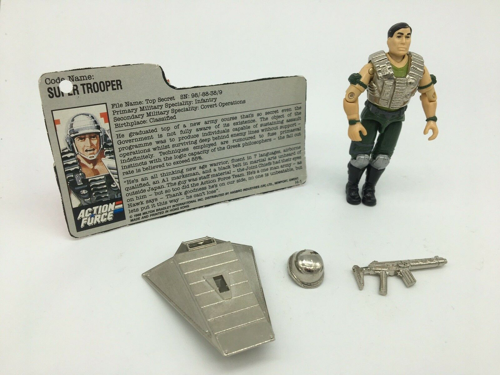 GI Joe, Action Force, SUPER TROOPER, 100% COMPLETE, 1980s, mail away, rare