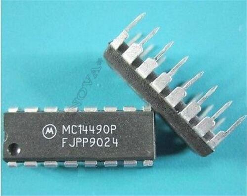 10 Stück 16Dip MC14490P Eliminator Bounce Hex Ic Neu if
