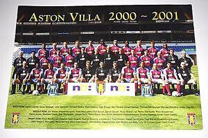 Aston-Villa-Mini-glaenzend-Plakat-A4-Groesse-Saison-2002-2003-bedrucktes