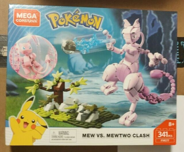 Mega Construx Pokemon Mew vs. Mewtwo Clash Set FVK77 FREE USA PRIORITY SHIPPING
