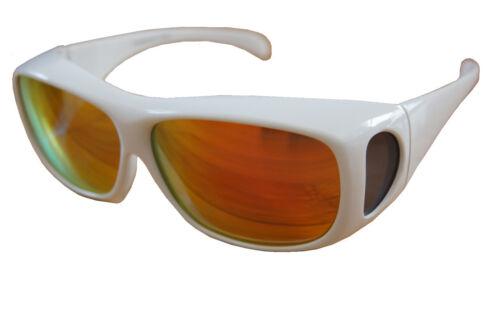 Andevan™ 100/%UV polarized cover over color sunglass white plastic frame