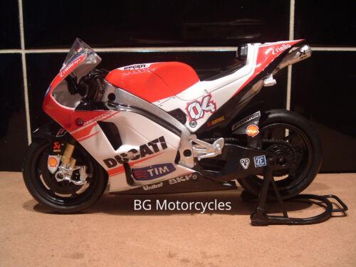 1:12 15 #04 Andrea Dovizioso Diecast modèle DUCATI Desmosedici MotoGP #DOVI