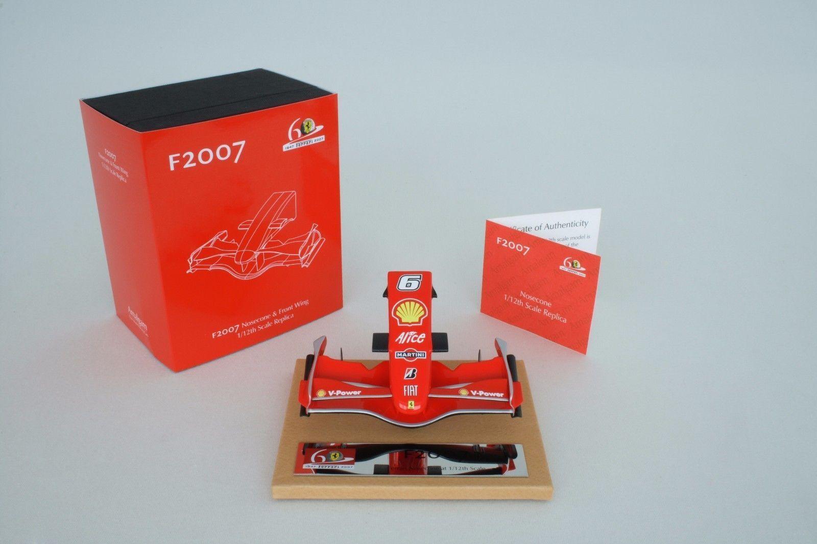 Amalgam 1/12 Ferrari 2007 Kimi Raikkonen F2007 Nosecone Nose Cone Nez aileron