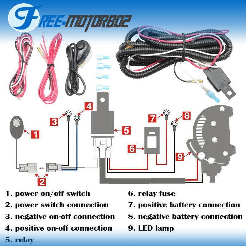universal led light bar fog light wiring harness kit 40a 12v switchnorton secured powered by verisign