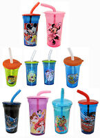 Disney Mickey Minnie Mouse Spiderman Princess Kids Tumbler Drinking Cup Boy Girl