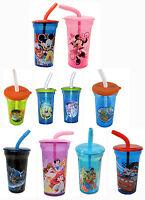Disney Mickey Minnie Mouse Spiderman Princess Kids Tumbler Drinking Cup Boy Girl