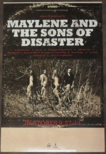 MAYLENE AND THE SONS OF DISASTER IV Ltd Ed Discontinued RARE Tour Poster Metal