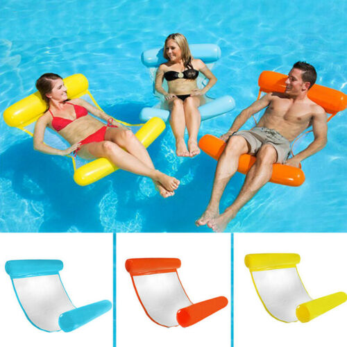 Inflatable Floating Water Hammock Float Pool Lounge Bed Swimming Chair UK