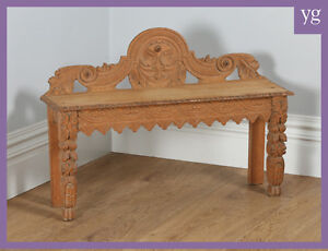 Stupendous Details About Antique English Victorian Gothic Carved Oak Hall Window Bench Seat Stool Chair Spiritservingveterans Wood Chair Design Ideas Spiritservingveteransorg