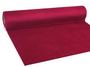 Tischläufer Samt rot, Tischdeko, Tischband, velvet deluxe, Länge ca. 2,5 Meter
