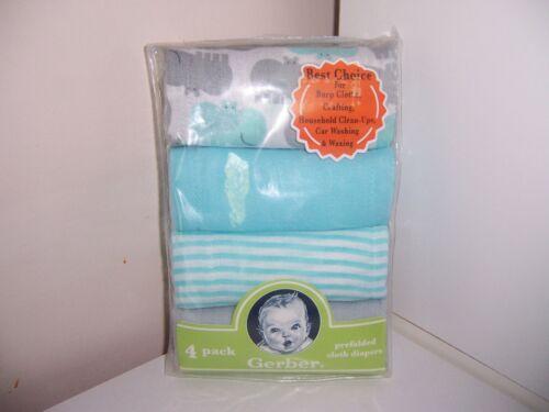 New Gerber hippo prefold cloth diapers HTF