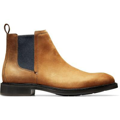 Cole Haan Mens Kennedy Grand Leather Dress Chukka Boots Shoes BHFO 3540