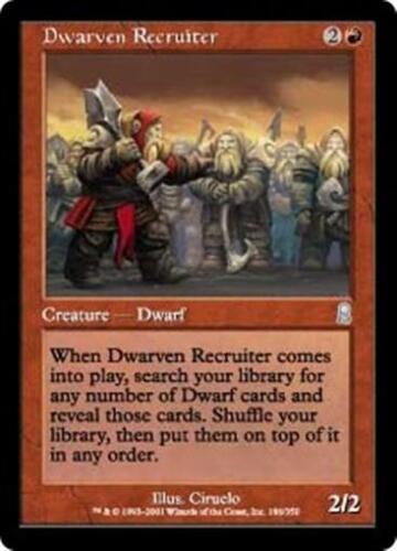 DWARVEN RECRUITER Odyssey MTG Red Creature — Dwarf Unc
