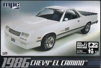 Mpc 1986 Chevy El Camino Plastic Model Kit 1/25
