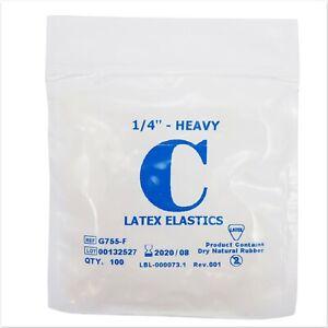 Orthodontic Elastic Bands Latex 1 4 4 5oz Heavy Elastics Between