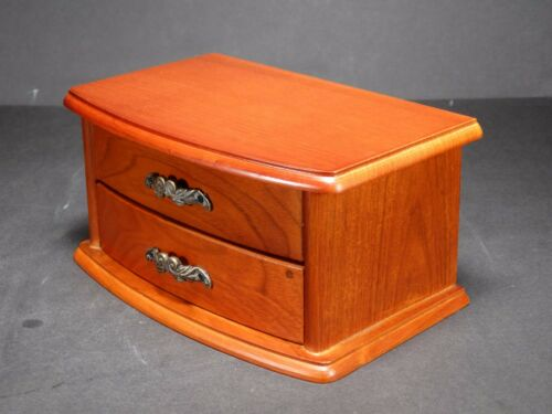 Wooden Jewellery Box with single drawer /& Interior Mirror