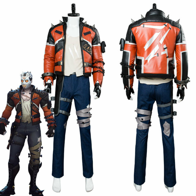 0a7f00796 Overwatch OW Cosplay Soldier 76 Slasher Costume Adult Full Suit Jacket  Halloween