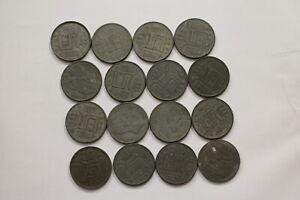 BELGIUM-OLD-COINS-GERMAN-OCCUPATION-WORLD-WAR-B15-SWH36