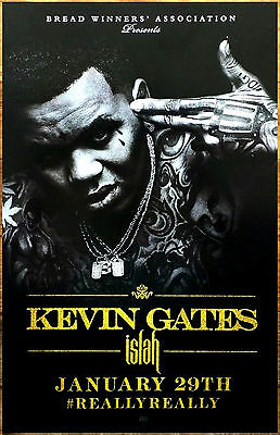 T-751 Art Poster Hot New Kevin Gates Singer Hip Hop Music Star Silk Home Deco