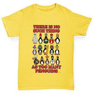 Twisted-Envy-de-garcon-trop-de-Pingouins-Drole-T-shirt-en-coton