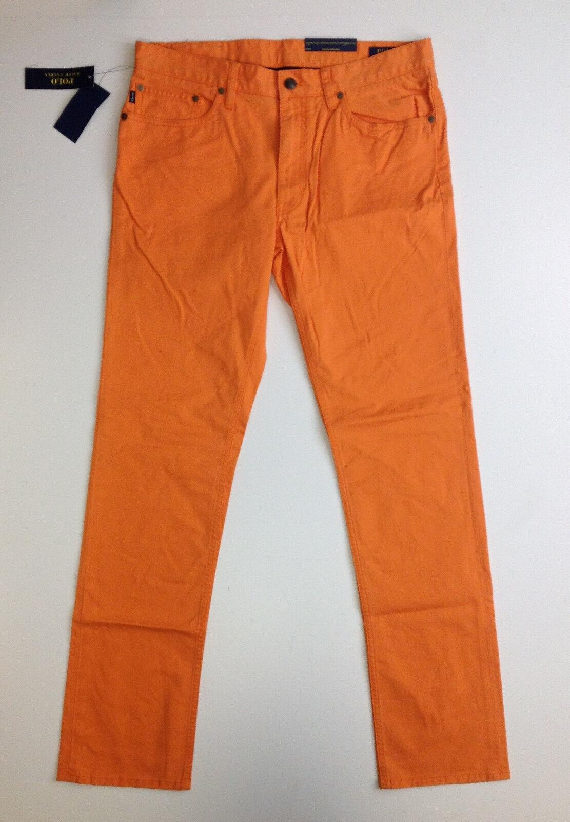 POLO RALPH LAUREN Bedford STRETCH SLIM STRAIGHT Pants, orange, 32x32