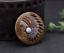 Antique-Brass-Southeast-Ethnic-Indian-Head-Turquoise-Leathercraft-Belt-Conchos miniature 6