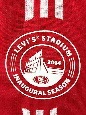 2014 San Francisco SF 49ers Red Scarf Levis Stadium Inaugural Season USA - New