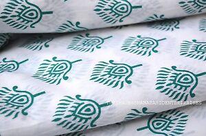Indian Sanganeri Hand Block Print Fabric Natural 100/% Cotton Fabric 2.5 Yards
