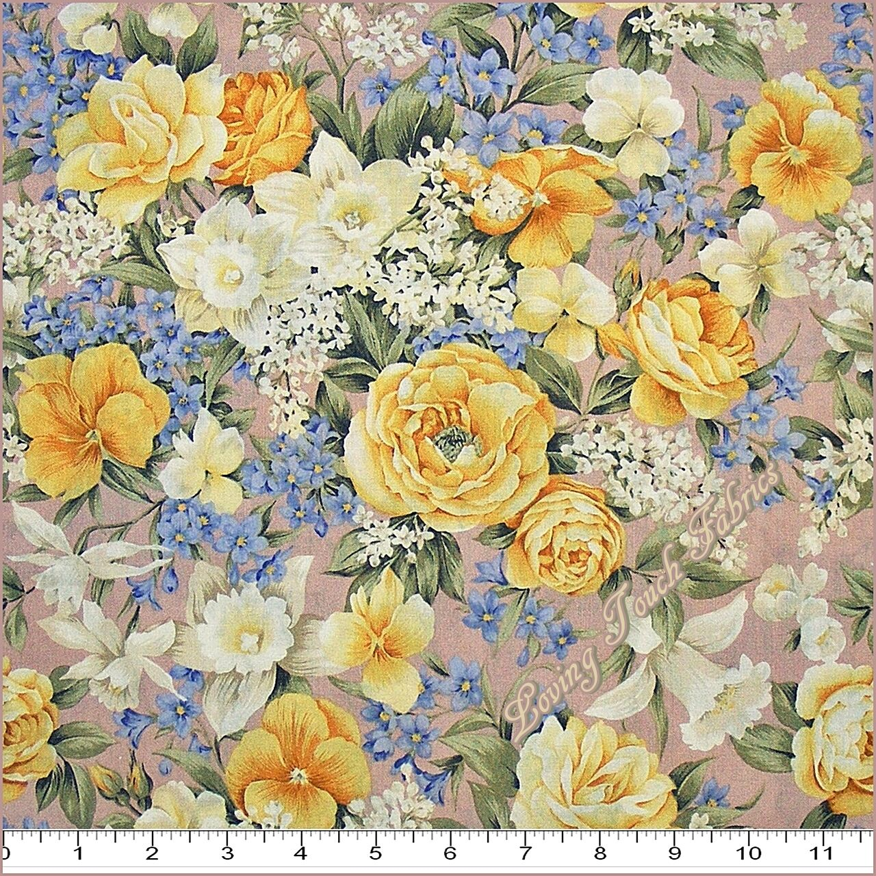2003 kona bay victorian romantic mixed floral roses fabric for Victorian floral fabric