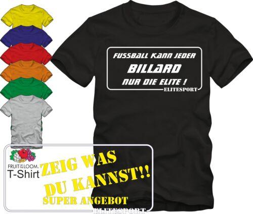 Elitesport  v,Farben  Top Angebot!!! T-Shirt Billard Sport T-Shirt