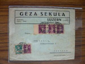 Schweiz Brief, Luzern - Cottbus (D) v. 15.IV.1929 mit ZD KD #P769 - Ochtersum, Deutschland - Schweiz Brief, Luzern - Cottbus (D) v. 15.IV.1929 mit ZD KD #P769 - Ochtersum, Deutschland