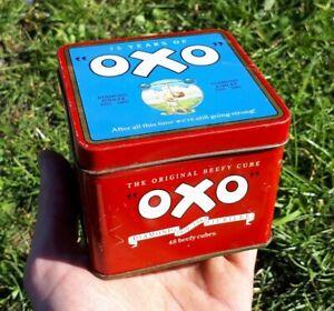 Vintage British Advertising Food Tin-OXO -75 Years of Oxo-Diamond Jubilee.