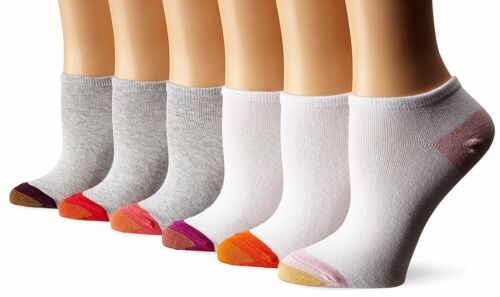 Assorted Colors Gold Toe Women/'s Jersey Fashion Liner Socks 6 Pairs