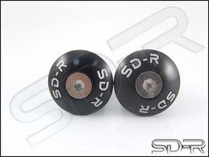 SD-R-Aluminum-Button-Handle-Bar-Ends-Buell-XB12-all-models-Black