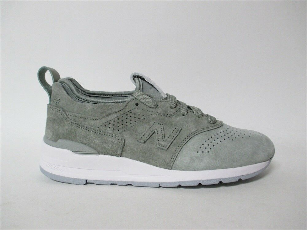 New Balance 997 Made in USA Grey White Silver Mint Sz 9 M997DT2