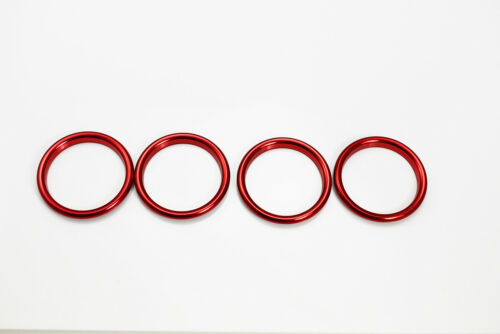 Aluminum Alloy Polished AC Air Vent Outlet Ring Covers Red for 12-19 A3 S3 RS3