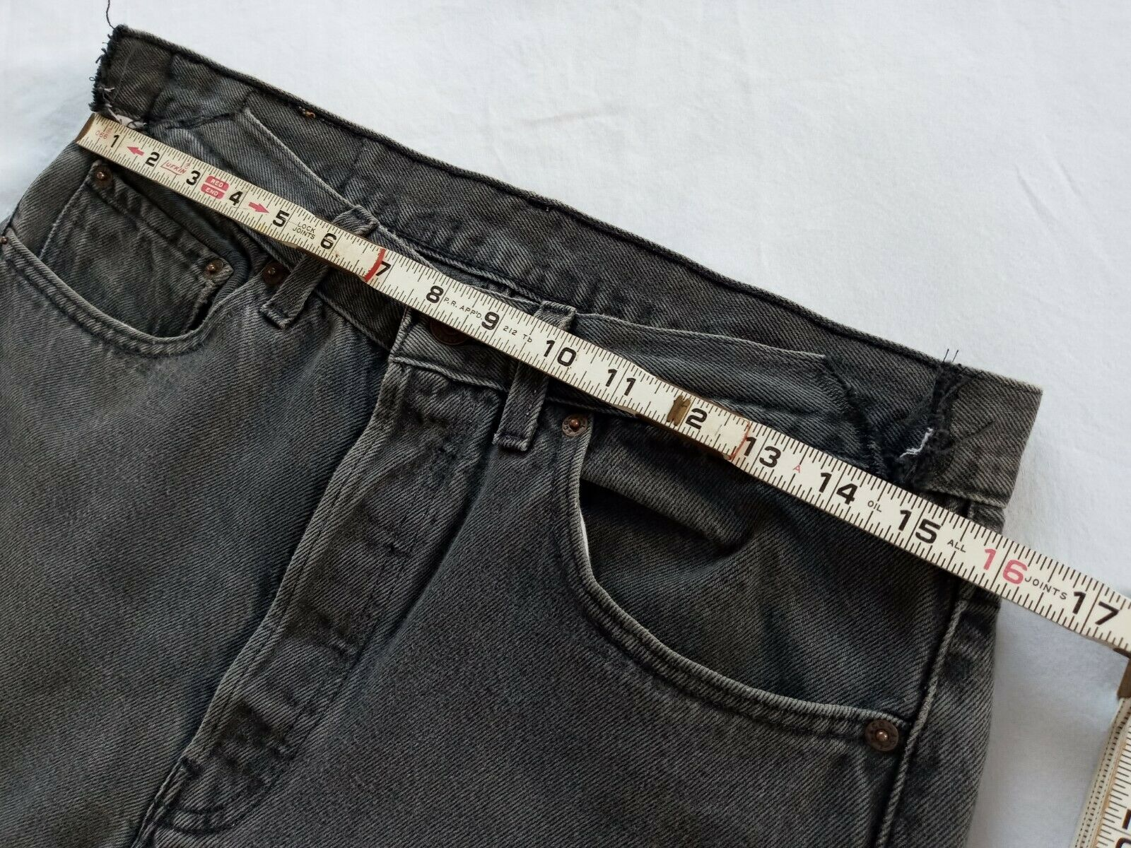 Levi's 501 Made In USA 1990's Black Jeans Size 32… - image 10