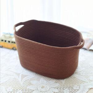 Cotton-Woven-Storage-Basket-Sundries-Basket-Kid-039-s-Toys-Storage-Holder-Coffee