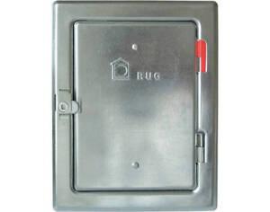 Puerta-de-chimenea-140-x-205mm-galvanizado-cerradura-Cuadrada-Limpieza