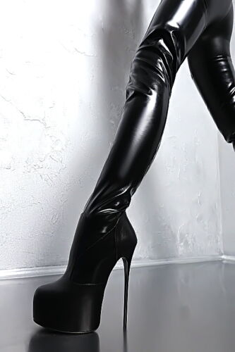 Overknee Sexy Heel 36 Made Stiefel Stiefel Lang High Stretch Leder Italy Z31 In J3FKTcl1