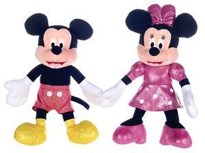 Christmas Minnie Mouse Plush.New 12 Set Of 2 Glitter Christmas Mickey Mouse Minnie Mouse