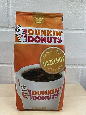 Dunkin' Donuts Hazelnut Flavored Ground Coffee 12 Ounce ...