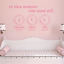 In These Moments Time Stood Still Clock Date Personalised Name Wall Sticker